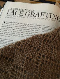 Learning to graft lace for the Anna Cowl pattern
