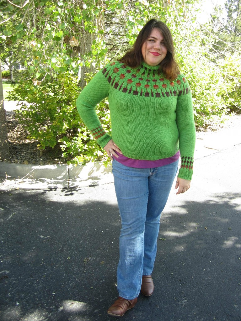 The Cactus Blossom is a great, easy color knitting project that will never go out of style.