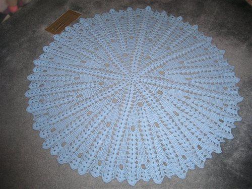 Free Crochet Patterns For Round Baby Blankets : round baby blanket - Interweave