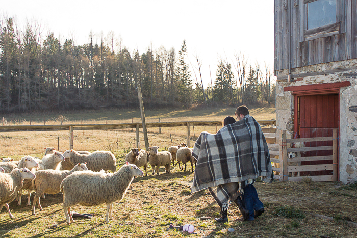 "The Upper Canada Mercantile, a UCFS member, ""makes hand-woven, locally farmed wool blankets and textiles. Traditional designs are brought to life by weaver Deborah Livingston-Lowe, using soft wool that is spun at local mills and grown by passionate Shepherdesses."" Photo: Upper Canada Mercantile."