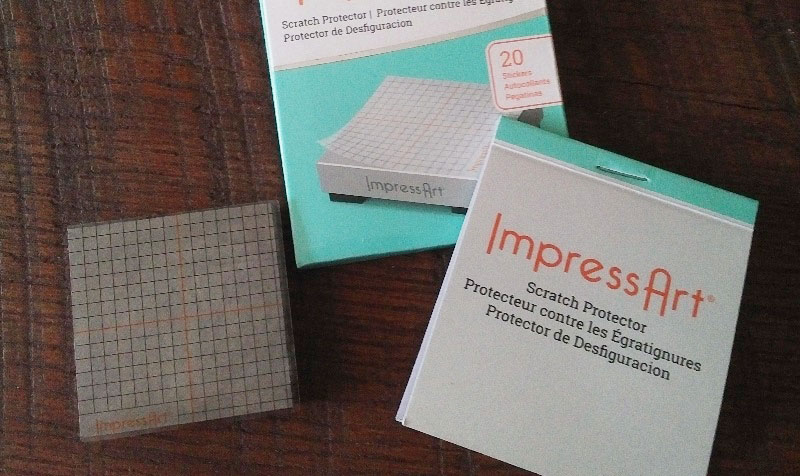 metal stamping products: Impress Art's Scratch Protector sticker sheets protect the back of your blanks.