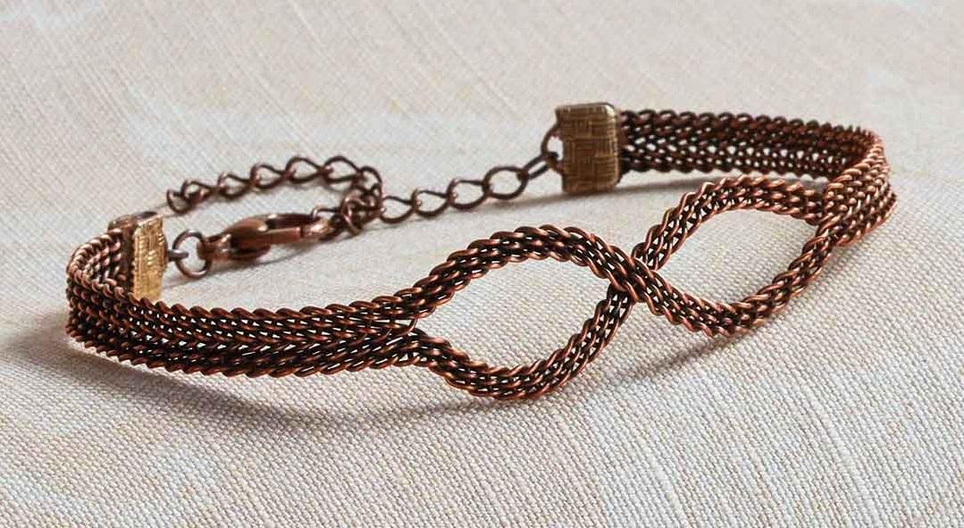 Kumihimo Wirework Made Easy: Infinity Bracelet