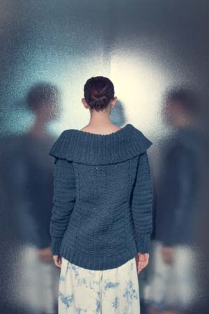 Back of Influx Pullover Crochet Sweater
