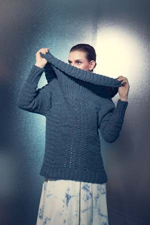 Influx Pullover Collar of Crochet Sweater