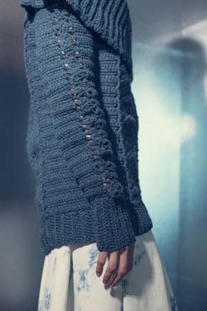 Sleeve of Influx Pullover Crochet Sweater
