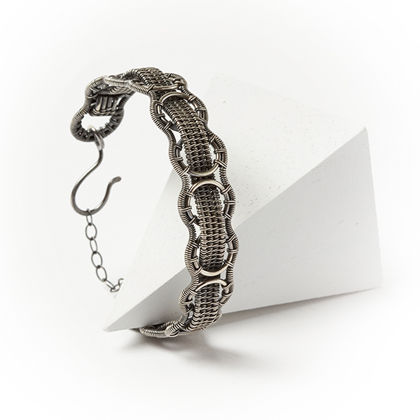 wire jewelry: Interlace Bracelet by Sarah Thompson from Woven in Wire