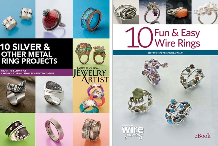 10 Silver & Other Metal Ring Projects and 10 Fun & Easy Wire Rings eBooks from Interweave