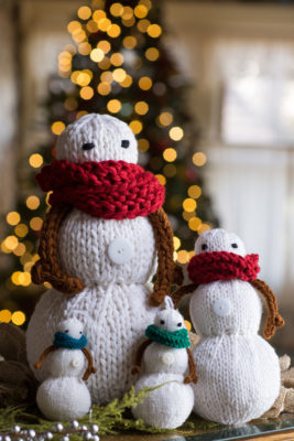 Snowman Family, pattern featured in Interweave Knits Holiday 2016