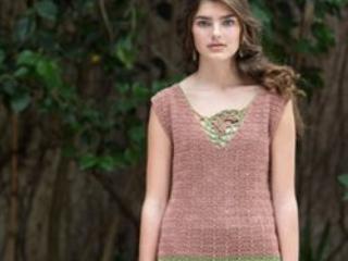 Irish Crochet Motif Top