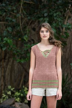 Irish Crochet Motif Top
