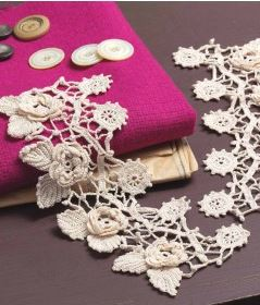 These gorgeous Irish crochet pattern makes incredible cuffs.