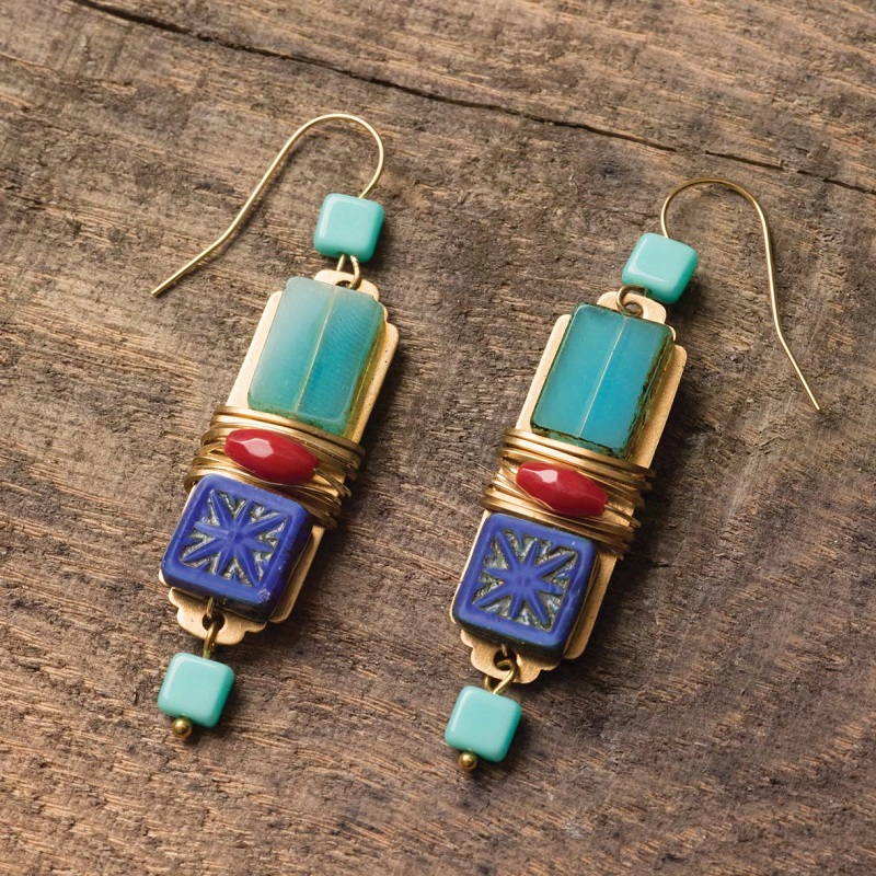 exotic jewelry designs: Iznik Tile Earrings by Anne Potter