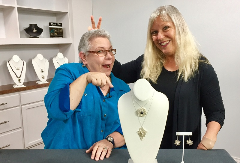 making metal clay and resin jewelry with Jackie Truty - rings