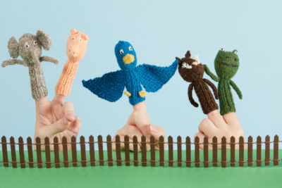 Puppet Pals knitting pattern from Love of Knitting Toys by Lisa Jacobs
