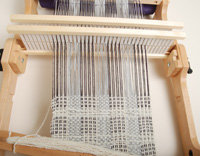 The weaving underway.