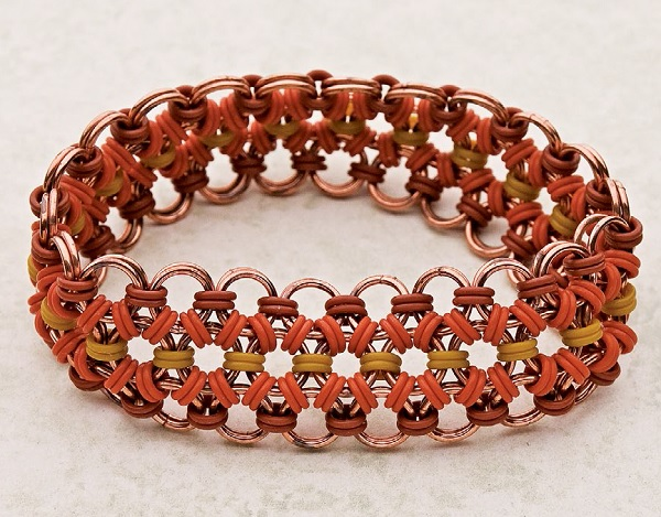 Color My World Japanese 12-in-2 stretchy chain maille bracelet by Tracy Harmon, from 10 Chain Maille Bracelets