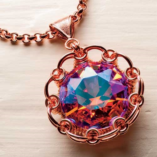 chain maille jewelry making: Japanese flower by Leayn Tabili