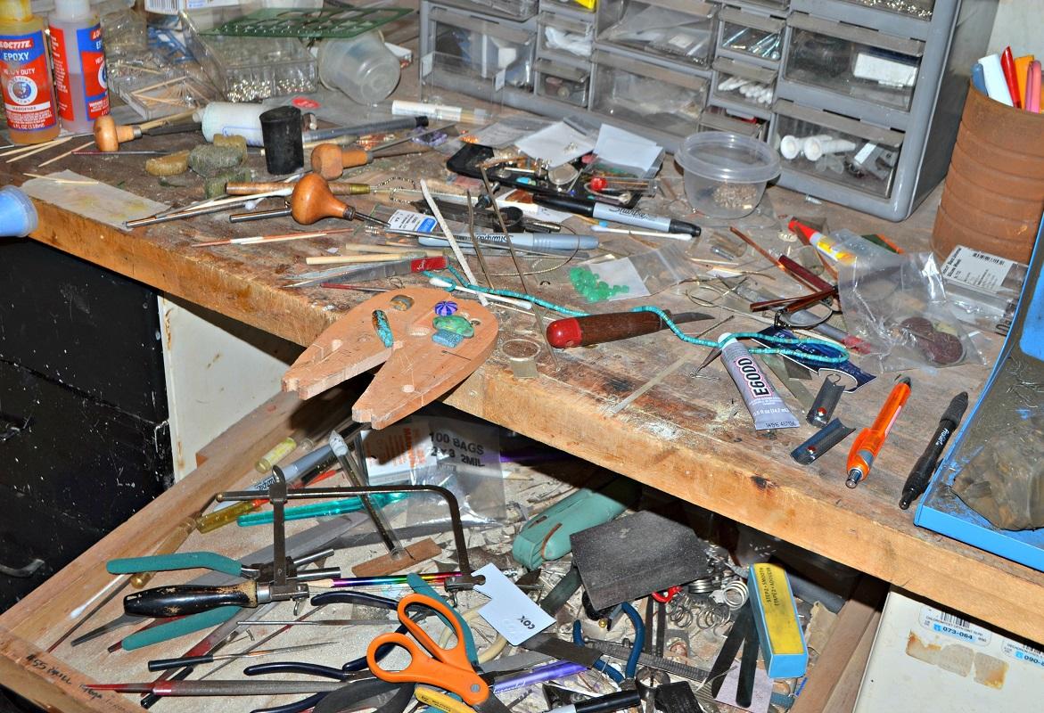 Jeff Fulkerson jewelry artist studio
