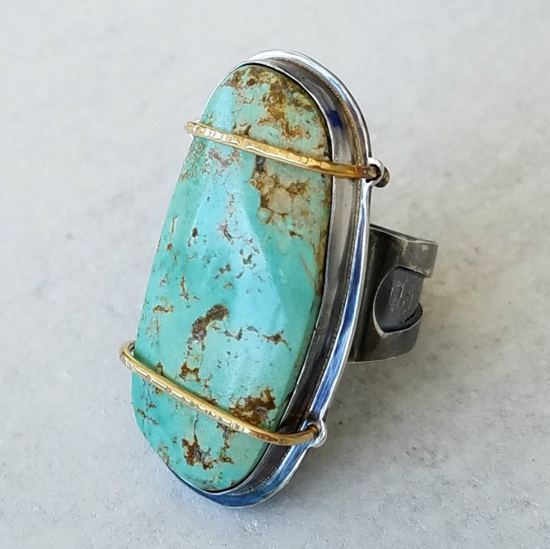 Offered for the first time at Bead Fest Philadelphia this year: Jeff's Strapped Ring; photo courtesy Jeff Fulkerson