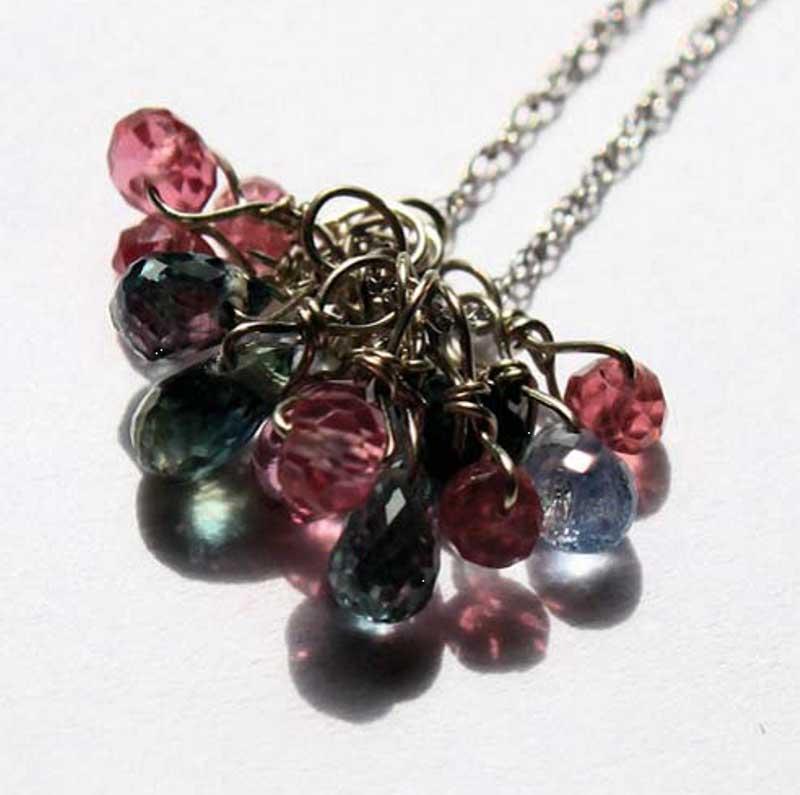 Veteran Jenifer Bellefleur gemstone and crystal necklace.