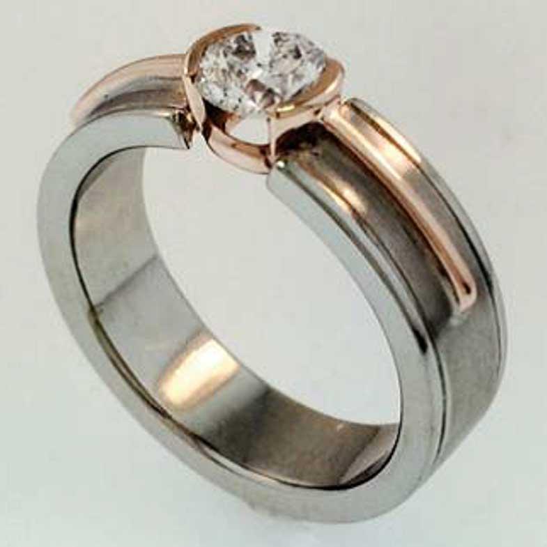 Veteran jewelry designer Jenifer Bellefleur sterling and gold diamond ring