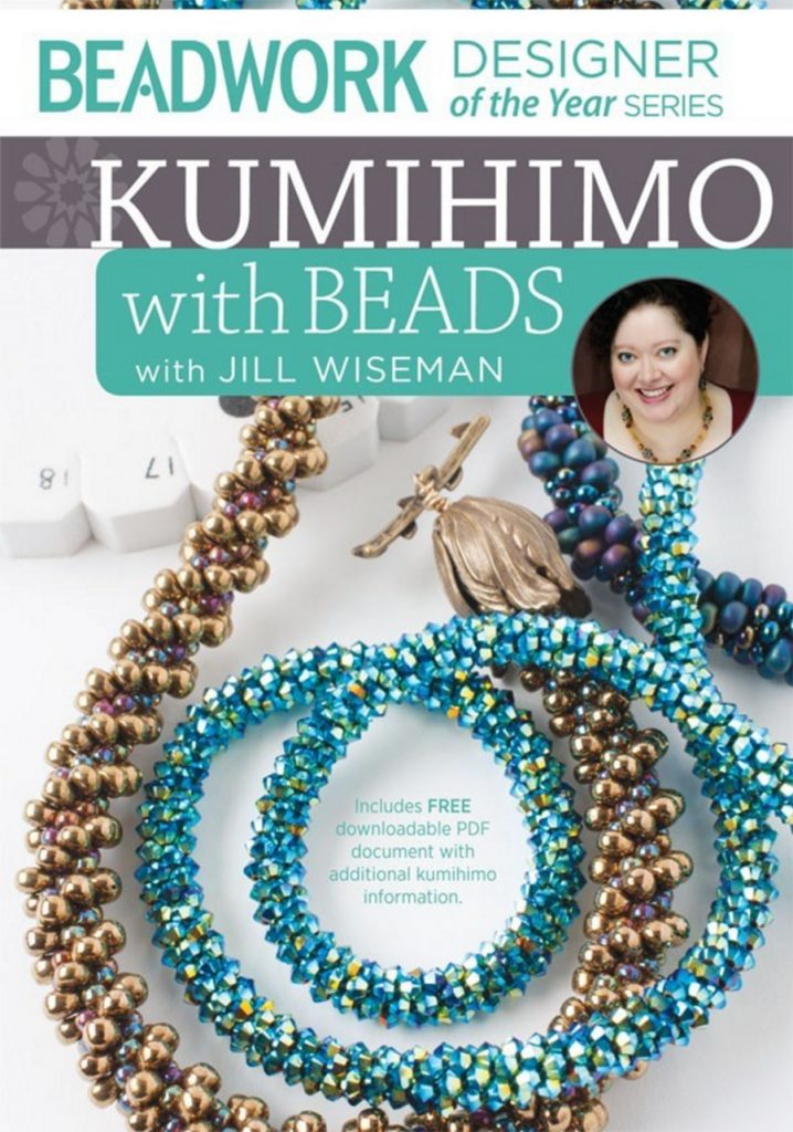 Jill Wiseman, kumihimo bead weaving patterns, kumihimo with beads, bead weaving jewelry designer
