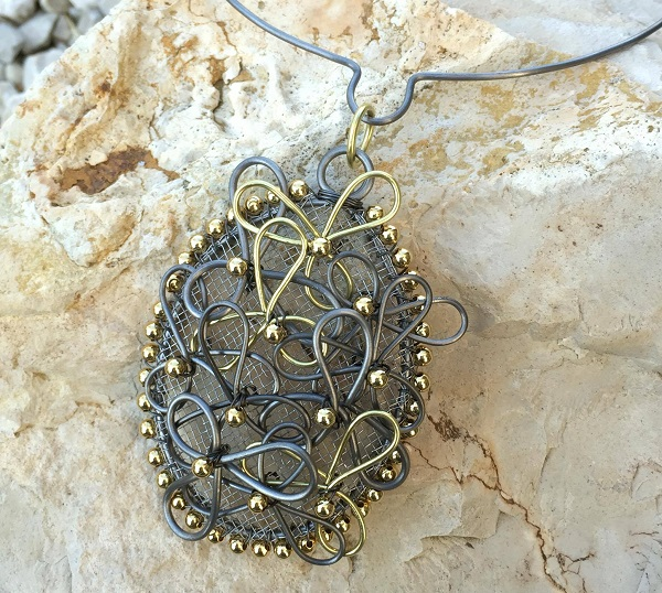 wire necklace by Joanne Klauber Jewelry