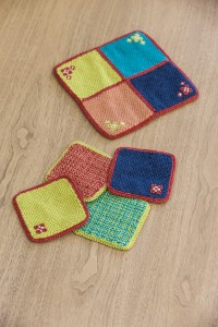 Mod Square Trivet & Coasters by Laurel Johnson