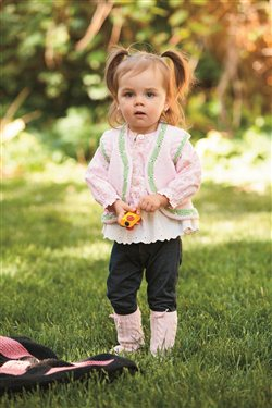 Knitted faun baby jacket pattern from Knitting Daily.