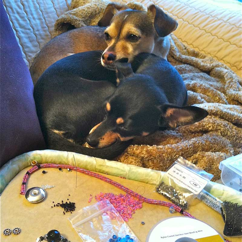 Bead Weaving and Jewelry Making with Inspiration from Our Pets. Sparkle and Bling with bead weaving supplies