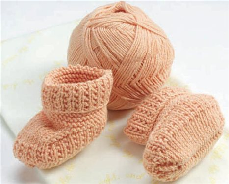 Baby Booties Knit In The Portuguese Style As Seen On Episode 307