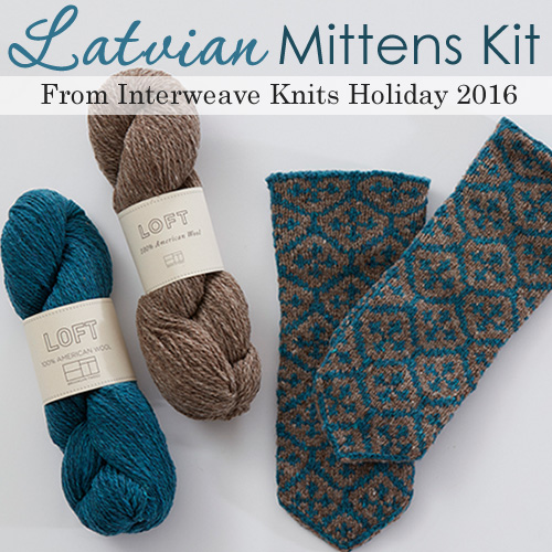 Latvian Knit Mittens Kit from Interweave Knits Holiday 2016