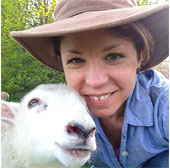 Kate Larson with Lamb