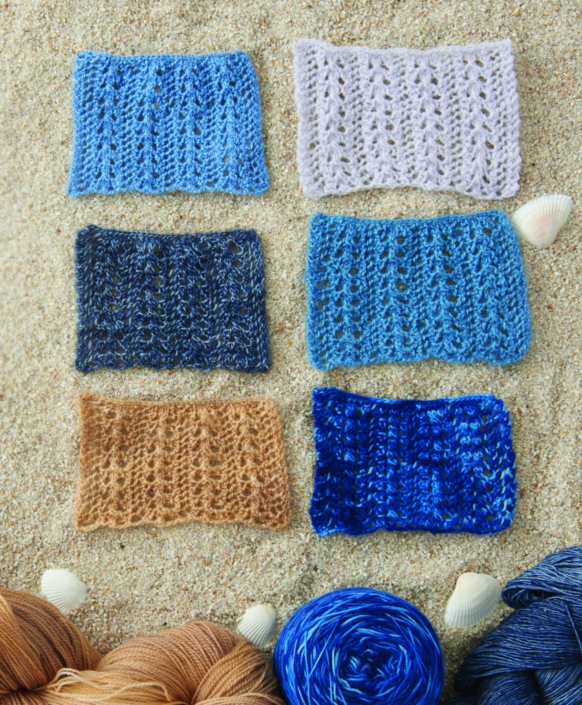 Knitting Lace: Lace swatches from Knits Summer 2016 Fiber Journal