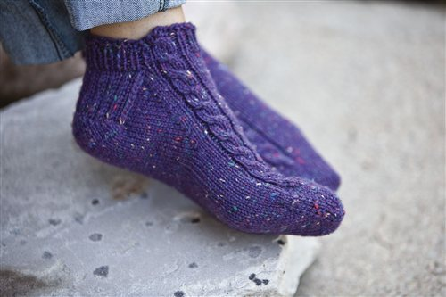 Pavo Slipper Socks Interweave
