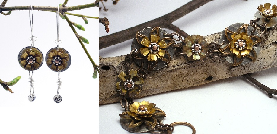 Quick and Easy Cold Connections: Make Riveted Flower Dangle Earrings