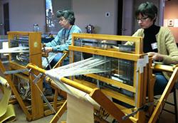 Karen's weaving students