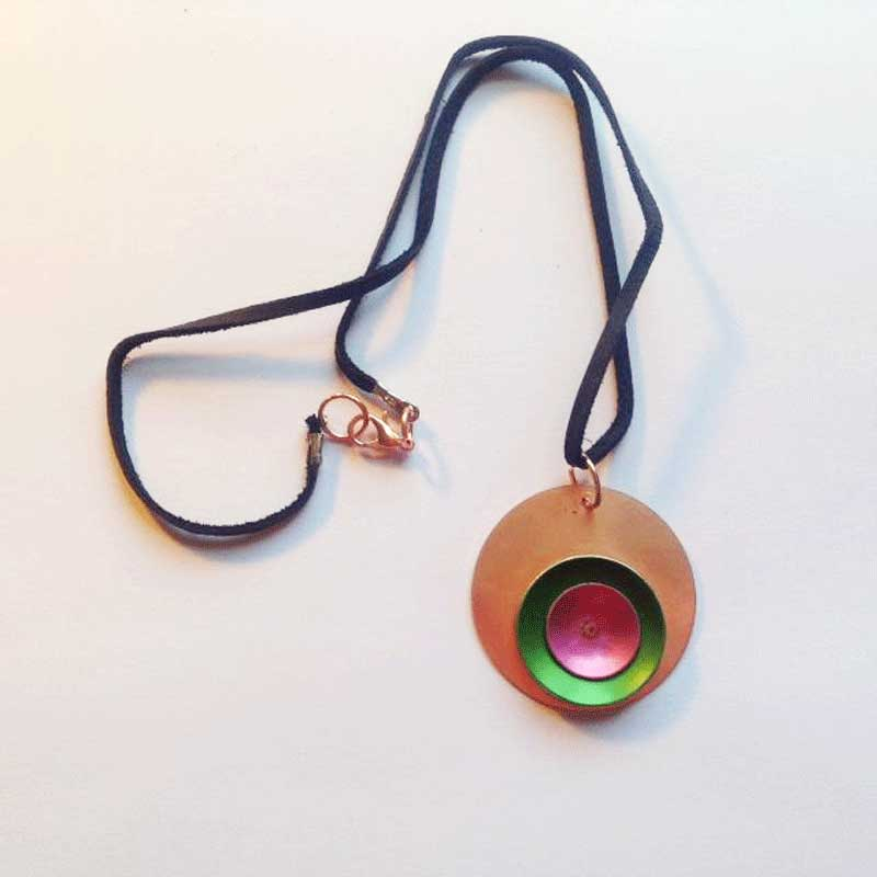 How To Make This Free Easy Riveted Copper and Aluminum Pendant Project