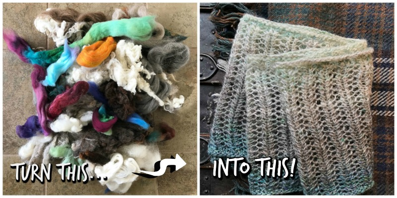 Roving Reporter: How to Spin A Gradient Yarn from Your Fiber Scraps