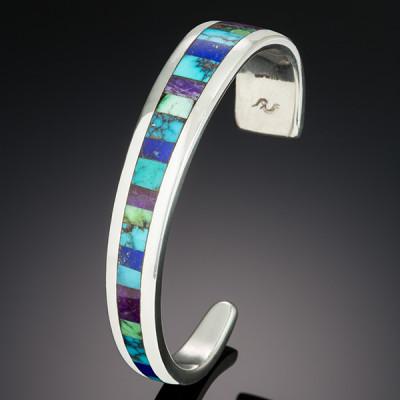 Gemstone inlay cuff by Kevin O'Grady. Photo David Orr Photography