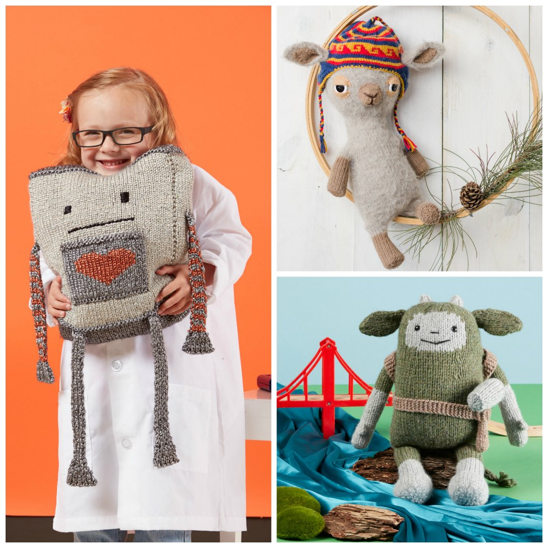 Knitting toys for kids is the best, because you know your gift will be loved (and the knitting is a blast). Try Mr. Robotics, Liam the Llama, or Tedmund Troll. | Photos by George Boe and Harper Point Photography