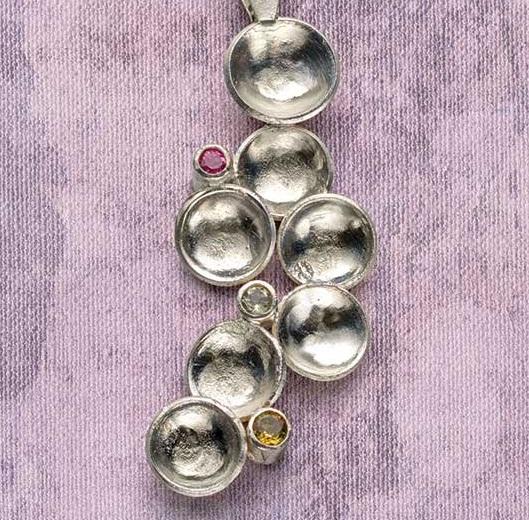 Kieu Pham Gray's Sparkling Recycled Scrap Silver Pendant