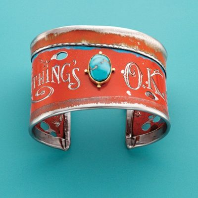 jewelry-making projects: Kit Carson's Everything's O.K. Found Steel and Turquoise Cuff by Kit Carson with Terri Haag
