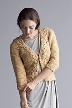 Fitted Jacket with Cables - Knitting Pattern
