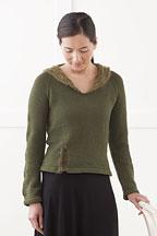 Gathered CollarPullover Knitting Pattern