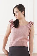Ruffle Sleeve Pullover- Knitting Pattern