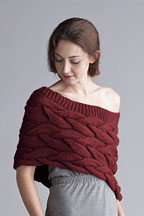 Shaped Capeletwith Braided Cables - Knitting Pattern