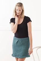Tucked Skirt Knitting Pattern