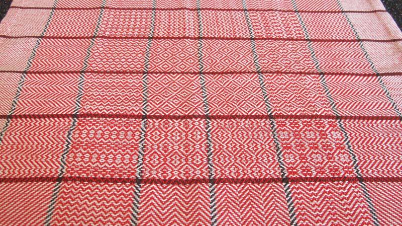 Twill sampler from Beginning Weaving.