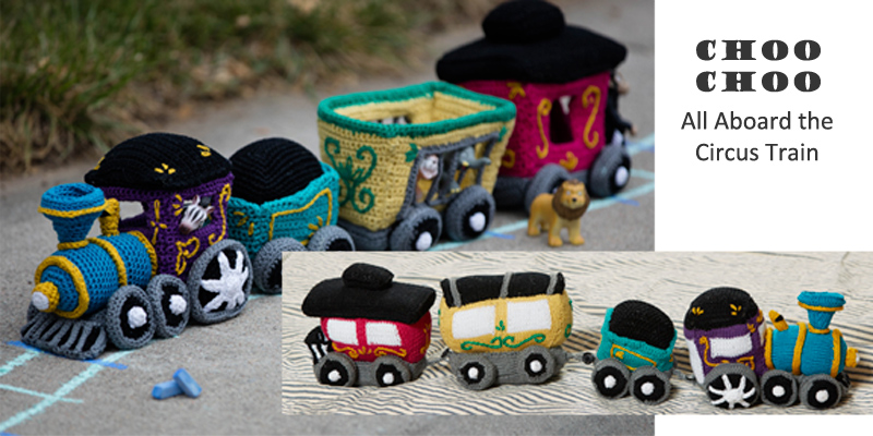 Knit and Crochet Train Pattern: Toy Sets for the Young at Heart